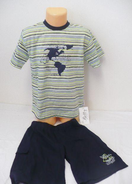 Kraťasy triko komplet pyžamo letní krátké BETTY MODE