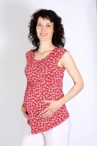 Těhotenská halenka tričko krátký rukáv 44