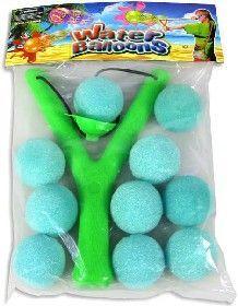 Prak plastový do vody set s pěnovými míčky 10ks v sáčku