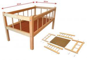 Postýlka dřevěná pro panenku 50x28 cm