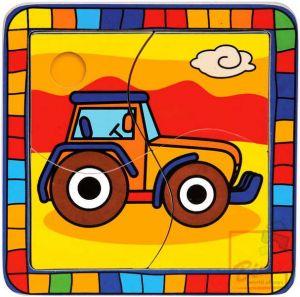Puzzle traktor * DŘEVĚNÉ HRAČKY *