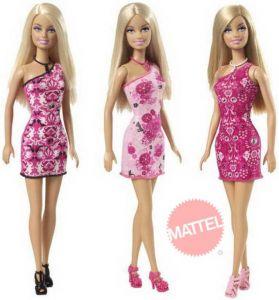 Barbie panenka v šatech MATTEL