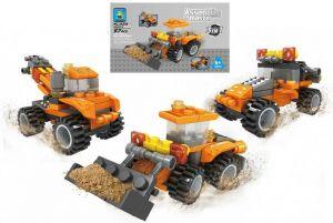 Stavebnice ASSEMBLING 3v1 stavební stroje