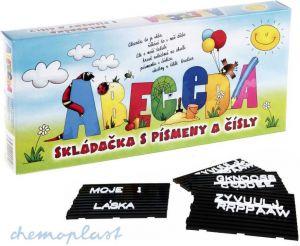 ABC skládačka stavebnice set abeceda s tabulkou plast